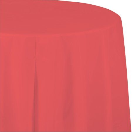 Coral Octy Round Tablecloth, each, Pink