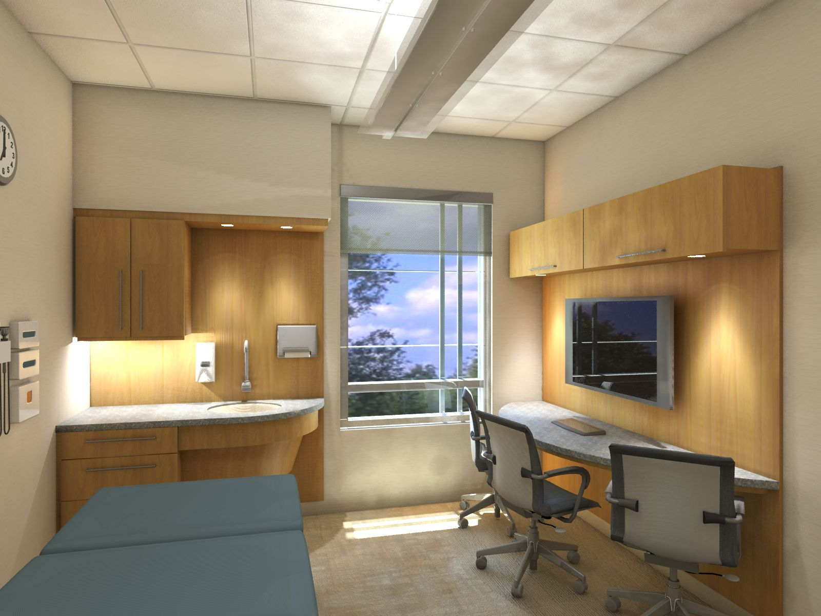 Via healthcare design resource exam room healthcare for Clinic interior designs