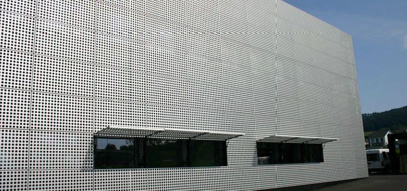 Sheet Steel Cladding : Metal cladding sheet perforated panel pixy