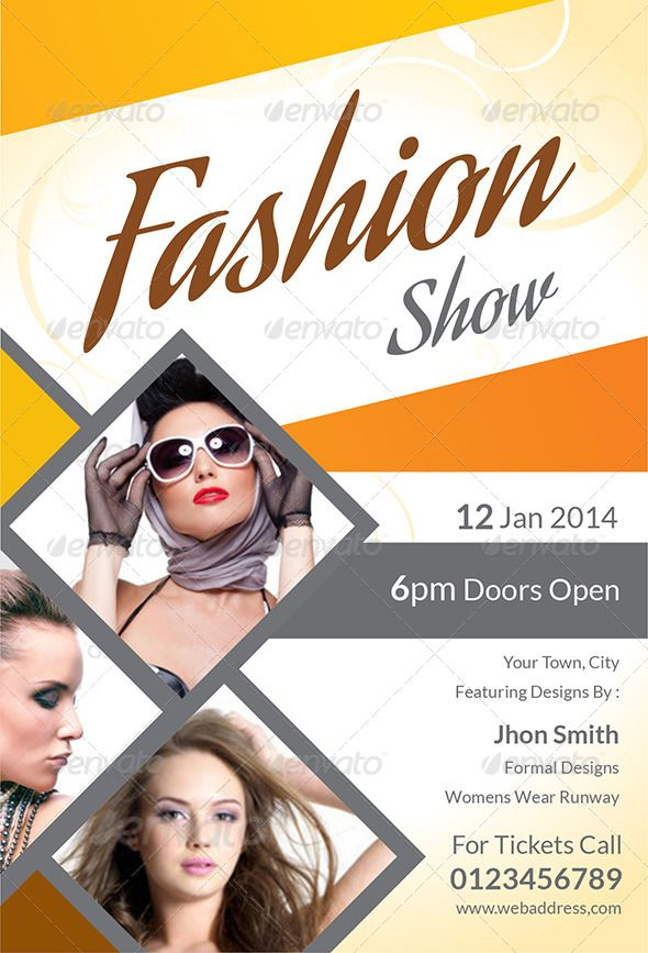 Fashion Show Flyer  Print Templates Font Logo And Fonts