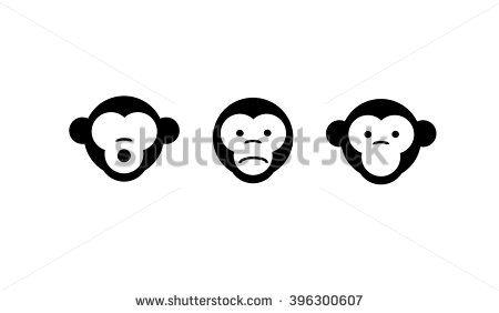 See No Evil Hear No Evil Speak No Evil See No Evil Hear No Evil Speak No Evil Vector Illustration Three Monkeys Stock Vector Evil Art See No Evil Wise Monkeys