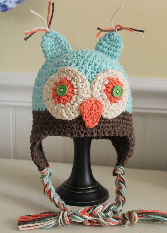 Owl Hat...OH MY!   Crochet stuff   Pinterest   Gorros, Emilio y Bazares