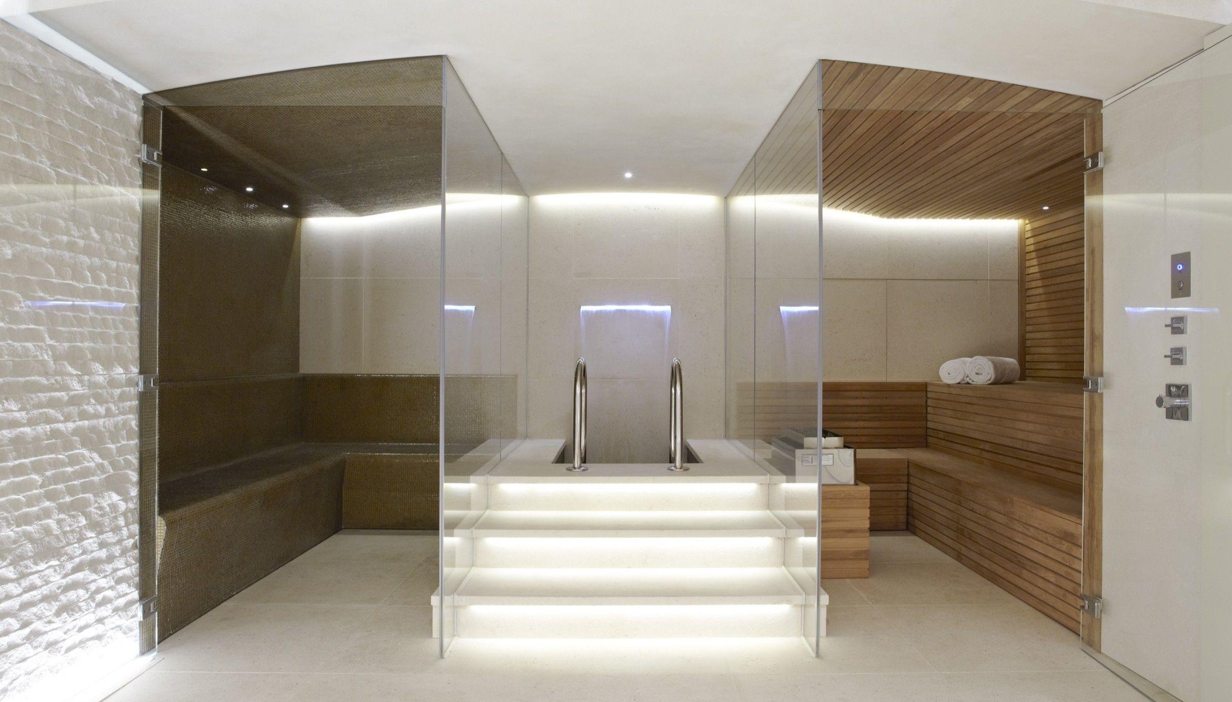 Knightbridge _ private basement spa/sauna _ lawson robb associates.