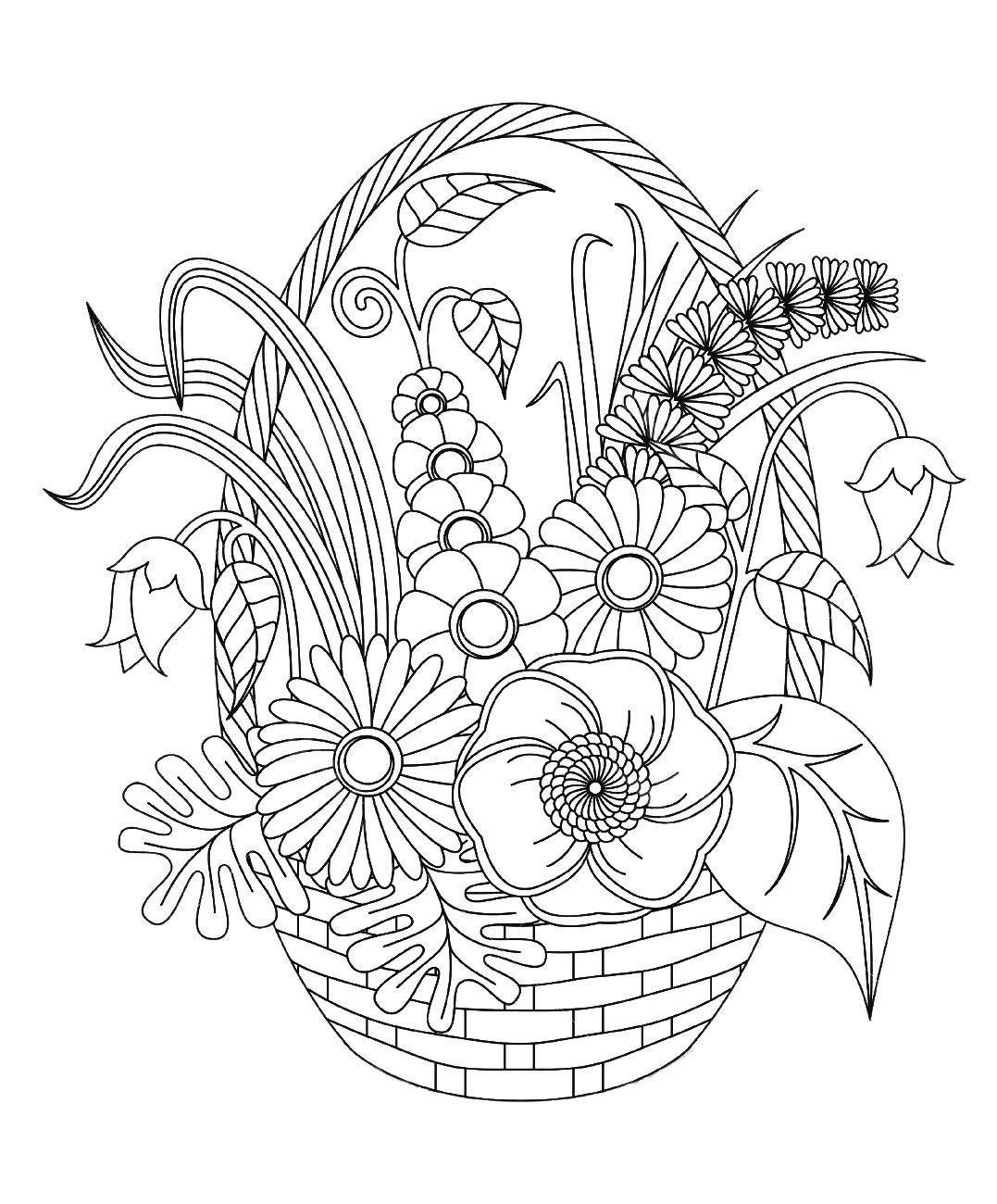 Colorear para adultos : Flores y vegetación - 80Desde la galería ...