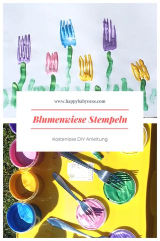 Blumenwiese Stempeln Kostenlose Diy Anleitung Auf Deutsch