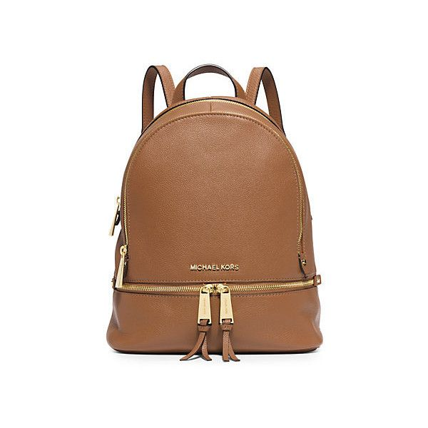 Michael Kors Rhea Small Leather Backpack, Acorn(Brown) ($298 ...