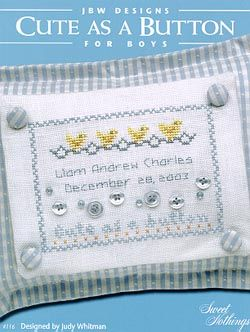 Cute as a Button Boys - Cross Stitch Pattern