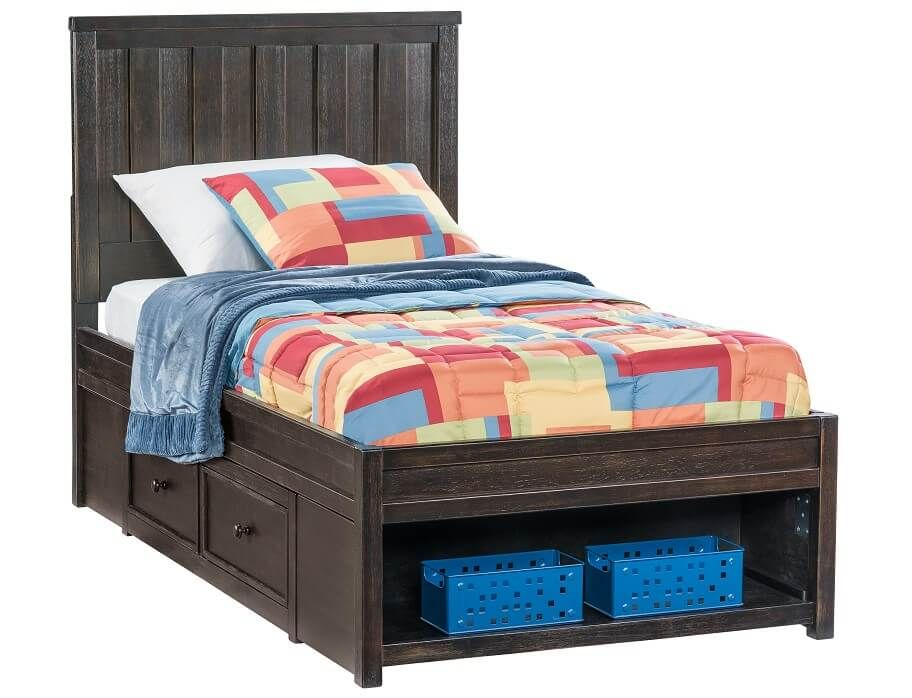 Slumberland Jaysom Collection Black Twin Storage Bedstead