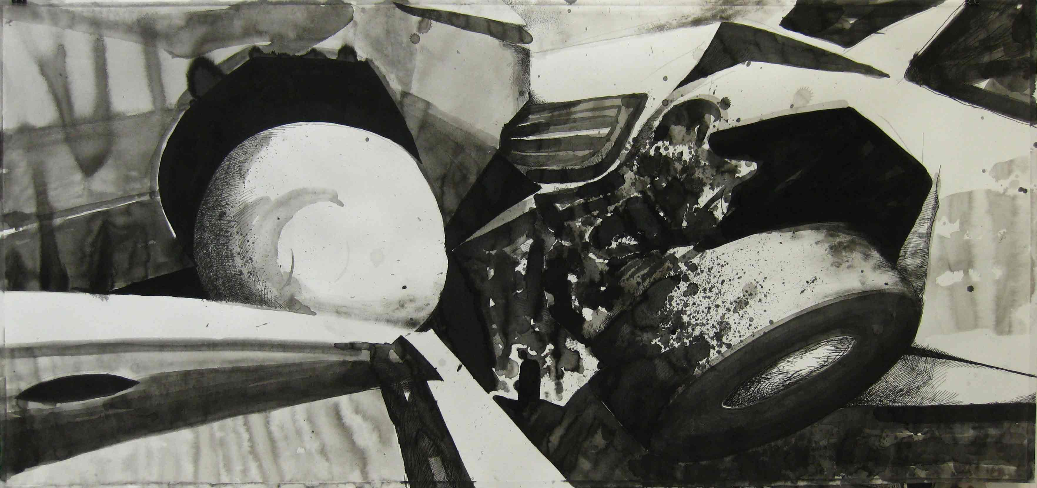 Paolo Boosten - Indian ink on paper - 175 x 68 cm - 2012