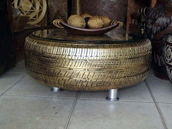 40 Smart Ways to Use Old Tires Tired Tire table and Upcycling