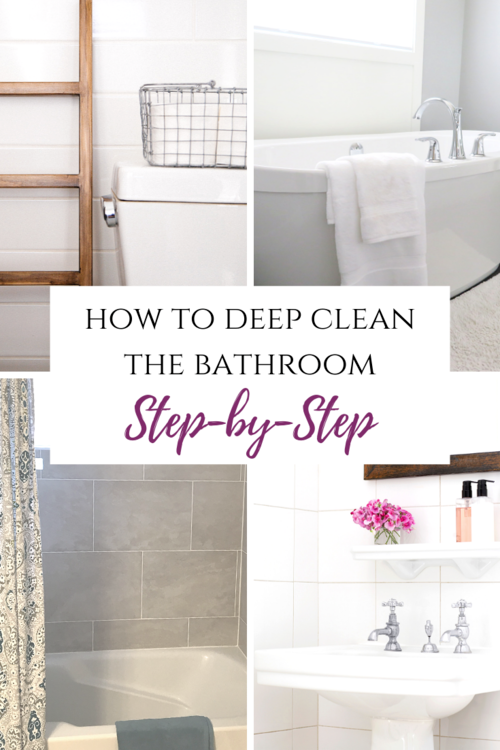 How To Clean A Bathroom Step By Step Cleaning Bathroom Tiles Cleaning Cabinets Deep Cleaning