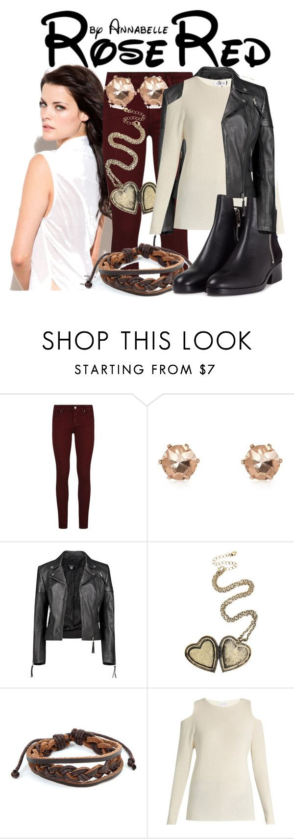 """""""Amanda Blanchard"""" by annabelle-95 ❤ liked on Polyvore featuring Paige Denim, River Island, Boohoo, West Coast Jewelry, Velvet by Graham & Spencer and 3.1 Phillip Lim"""