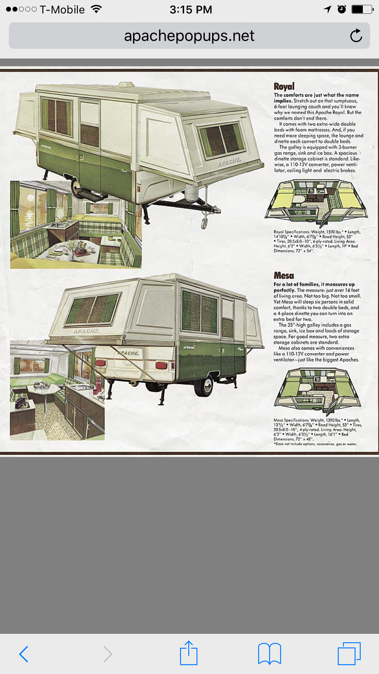 hight resolution of apache royal layout and original brochure
