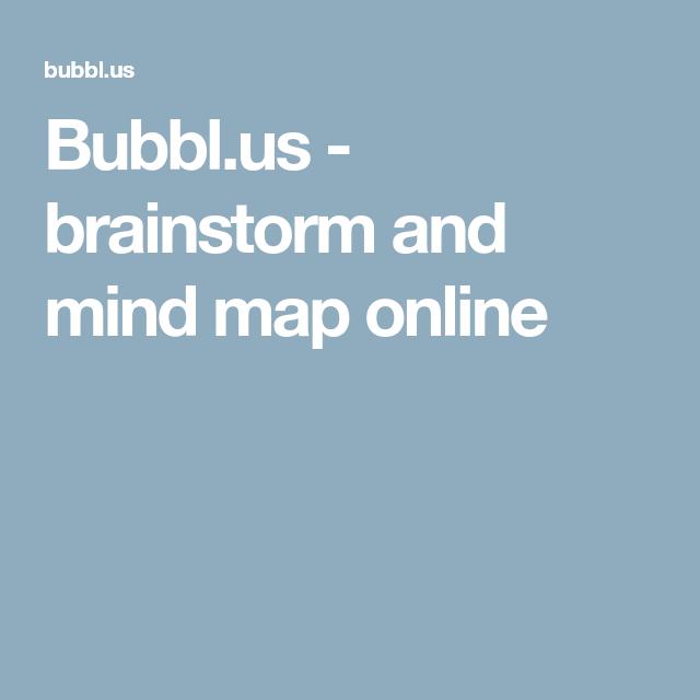 bubblus brainstorm and mind map online - Bubblus Mind Map