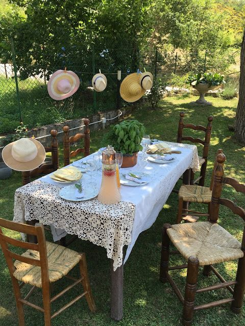 country table decoration. shabby chic, basil decoration, traditional , Italy, Umbria, Valnerina.