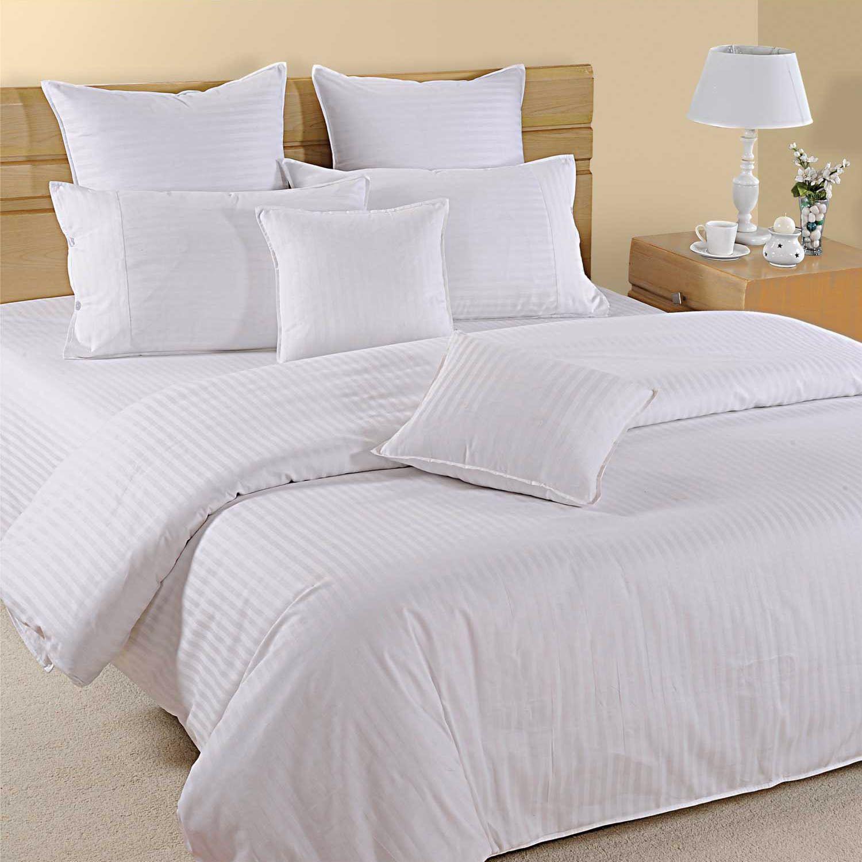 1000tc 100/%Egyptian Cotton Ivory Strip Bedding Item Sheet Set//Duvet Set//Fitted
