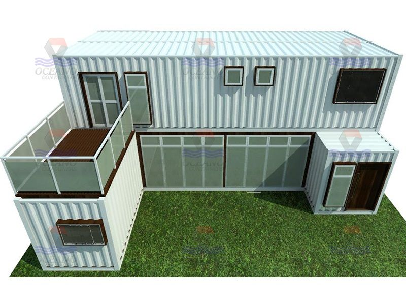 Excepcional Projetos | Casa Container 152m2 - Oceano Containers | Shipping  BT06