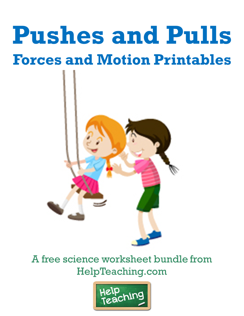Free Pushes And Pulls Worksheet Bundle Use This Collection Of Free Printable Work Free Science Worksheets Classroom Posters Free Elementary Science Classroom [ 1056 x 816 Pixel ]