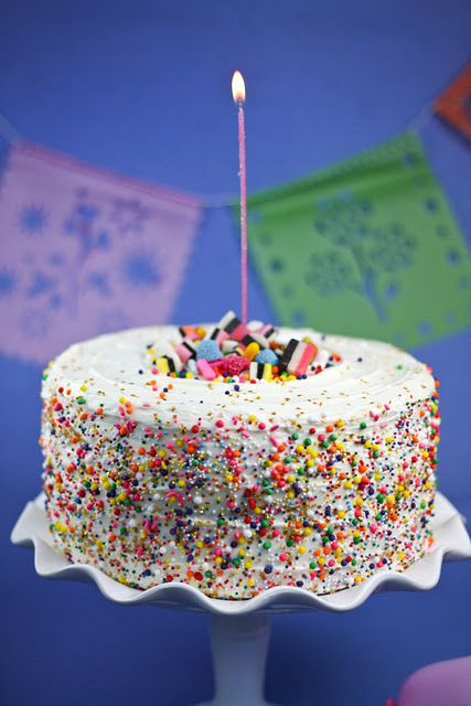 Rainbow Sprinkles Cake It Has A And Inside Too