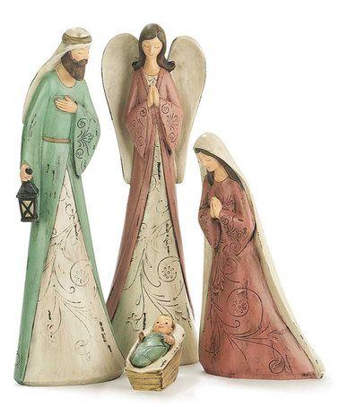 Angel Nativity Four-Piece Figurine Set #zulily #zulilyfinds