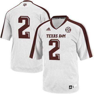 huge discount ced47 0d8ea adidas Texas Aggies #2 Replica Football Jersey - White ...