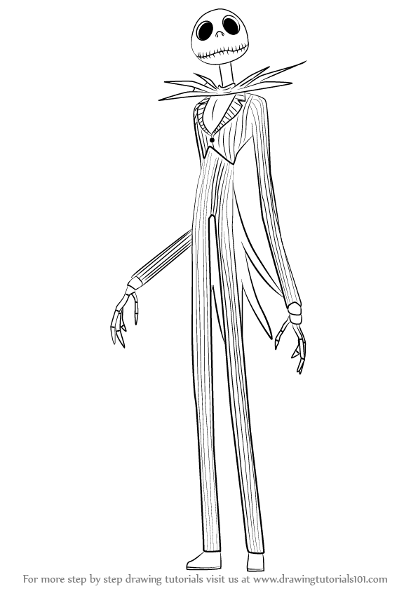 Learn How to Draw Jack Skellington from The Nightmare Before ...