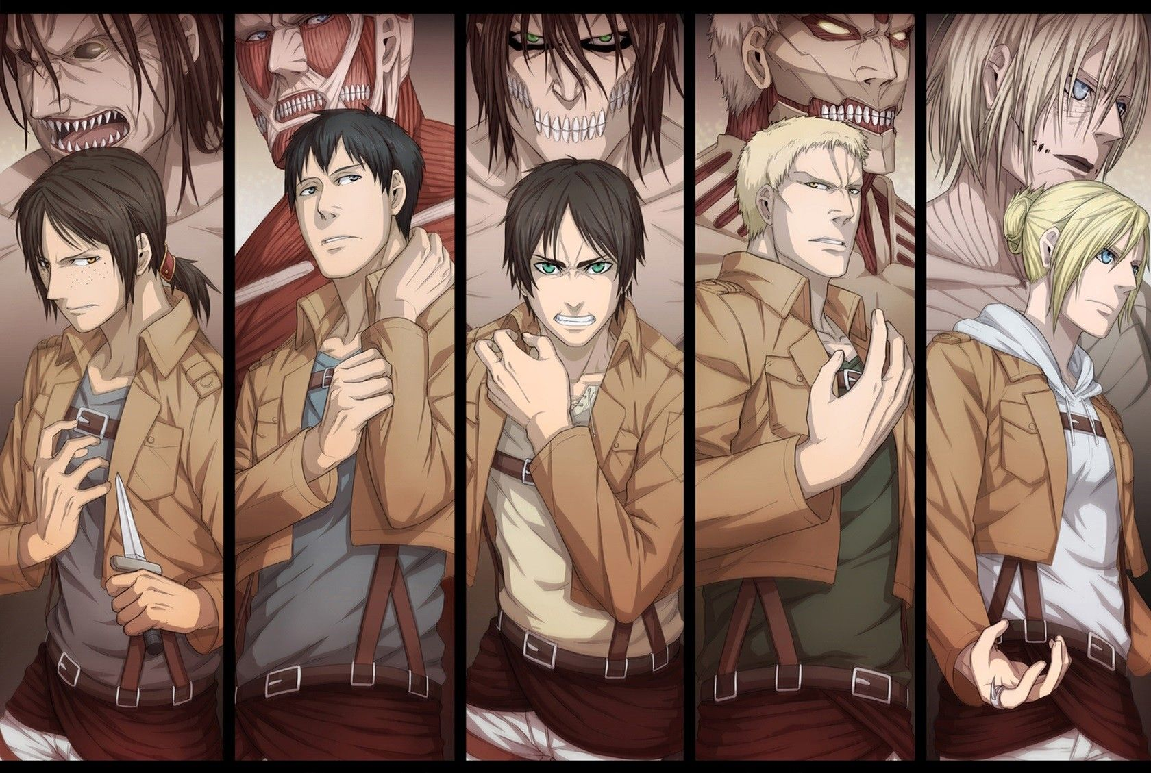 All Titans Computer Wallpapers Desktop Backgrounds 1680x1129 Id 656728 Attack On Titan Eren Attack On Titan Anime Anime