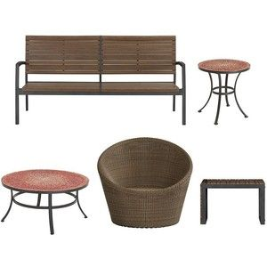 Crate U0026 Barrel Rocha 5 Piece Lounge Set With Calypso Chair And Mosaic Tables