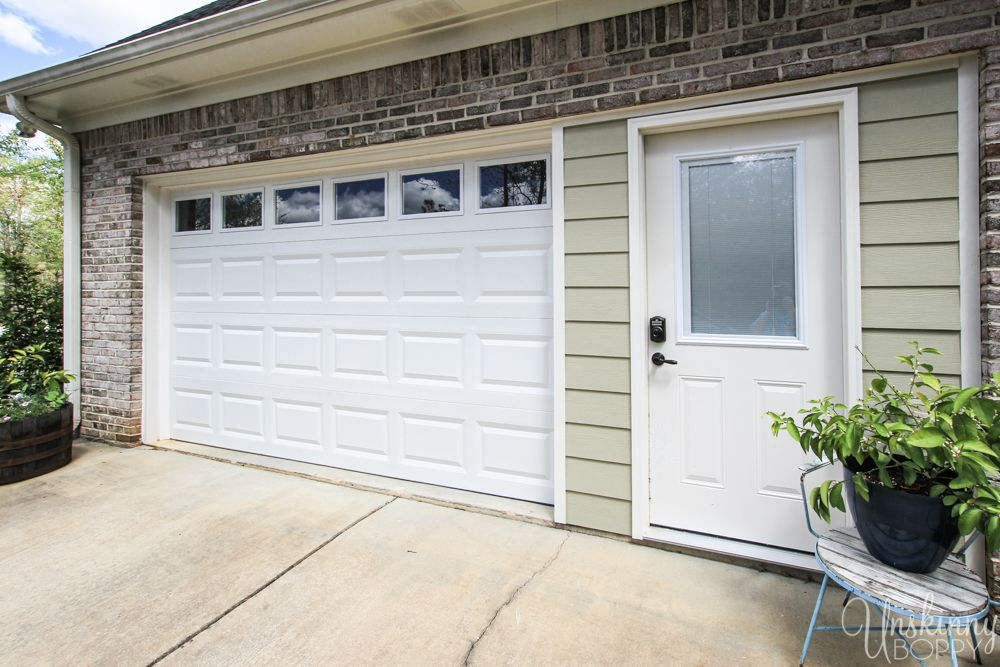 Replacing Double Garage Door With Single And Exterior Door Garage Doors Garage Door Design Double Garage Door