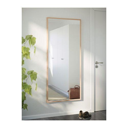 STAVE Mirror - birch effect, 27 1/2x63 \