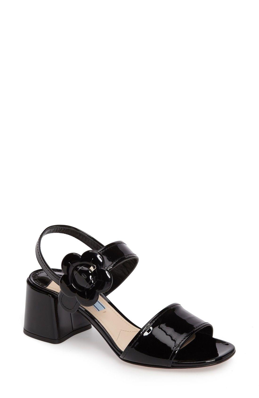 ab6336d98cc5 Prada Flower Buckle Sandal (Women) available at  Nordstrom