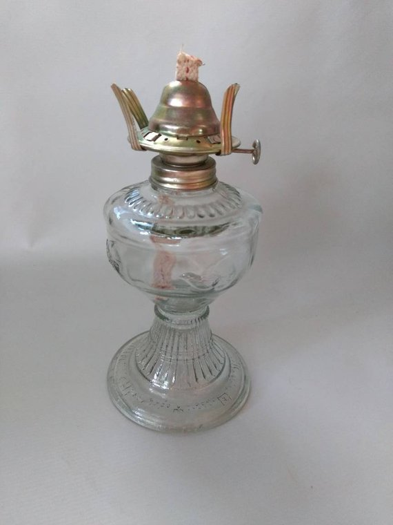 An Qing China Oil Lamp Lantern Glass Rockabilly Swallows Etsy Oil Lamps Vintage House Glass