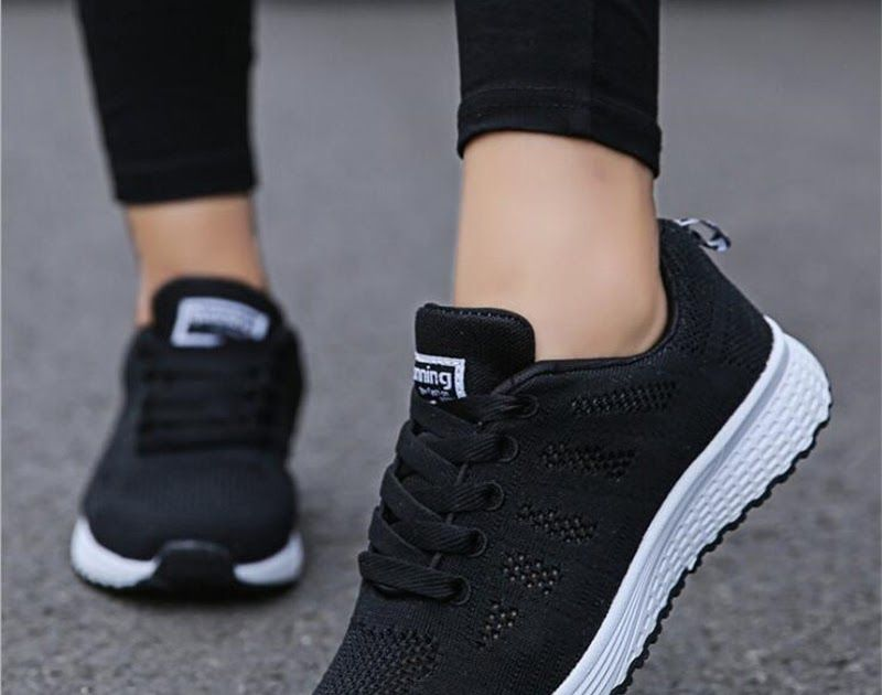1c5eda6acb2c Fast delivery Women casual shoes fashion breathable Walking mesh lace up  flat shoes sneakers women 2018 tenis feminino-. hello friends meet again  with us ...