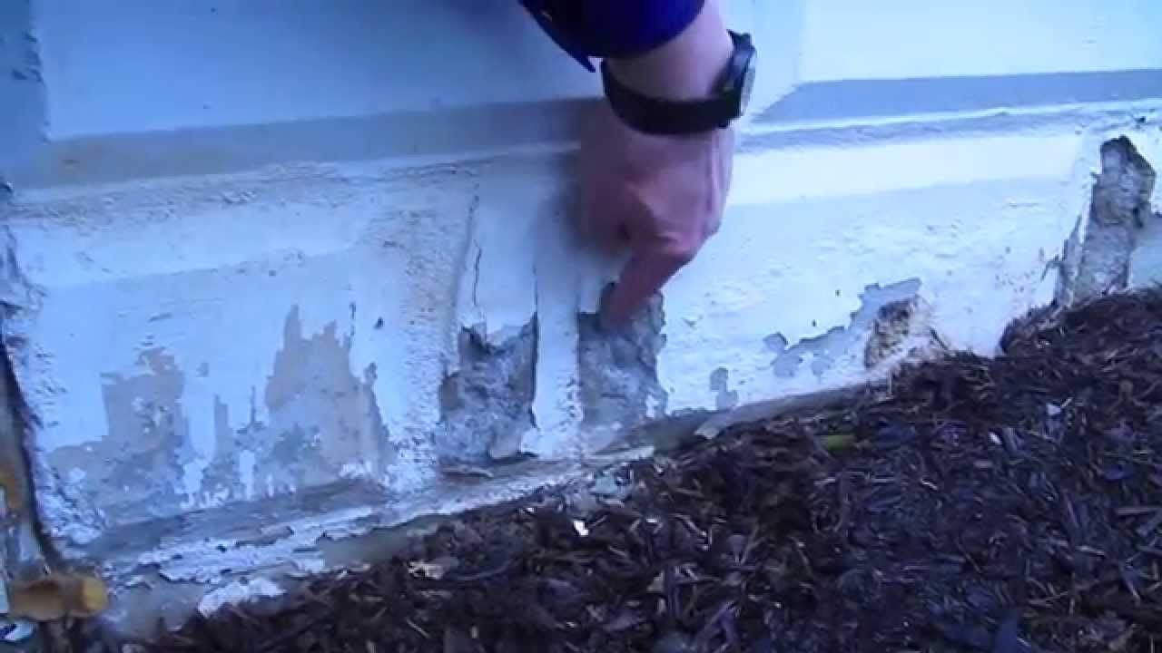 How To Repair A Crumbling Foundation Video 1 Of 3 Foundation Repair Cinder Block Foundation Concrete Block Foundation
