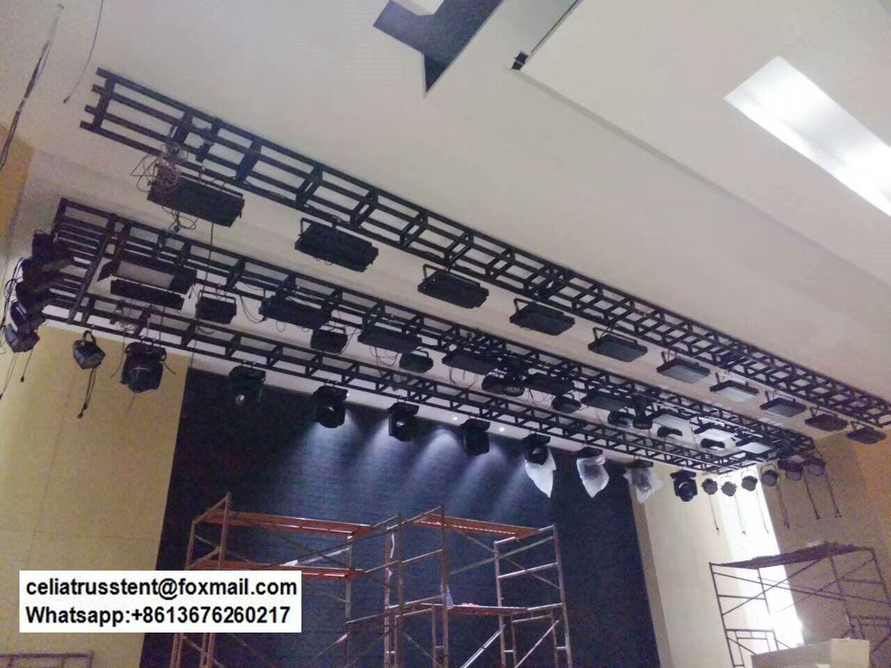 lighting truss rigging used lighting