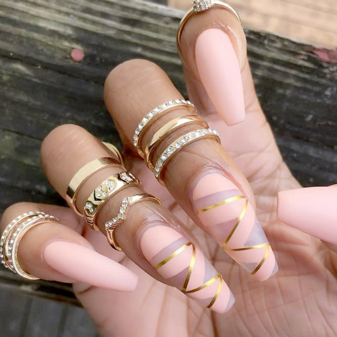 Perfect Coffin Acrylic Nails Designs to Sport This Season | Diseños ...