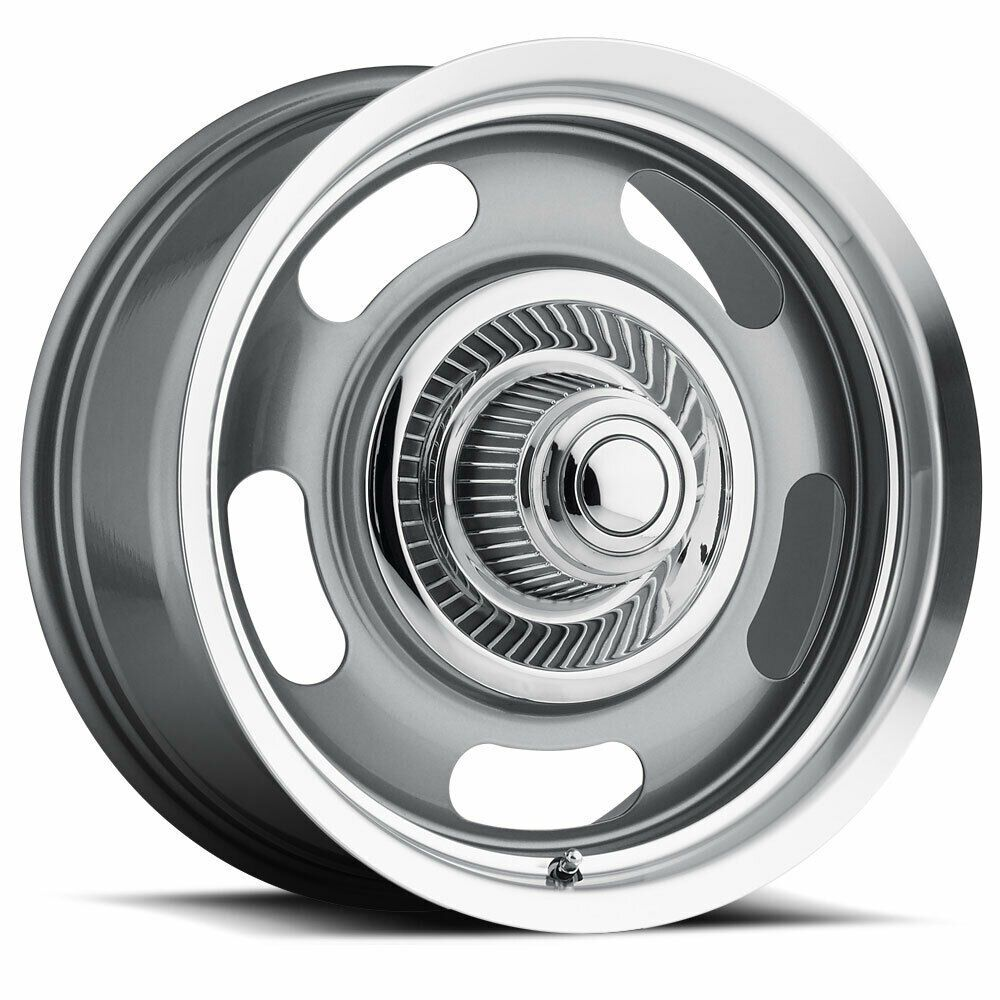 """20"""" Vision Muscle 55 Silver Rally Alloy Wheel 20x9.5 5x4.5"""