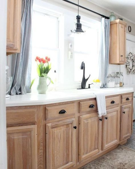 Light Colored Kitchen Cabinets: Really Awesome Product Called Liming Wax! It Fills The