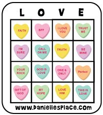 Candy Heart Bingo For Preschoolers Twenty Bingo Cards With Hearts That  Represent Nine Different Bible Verses. Valentine ...