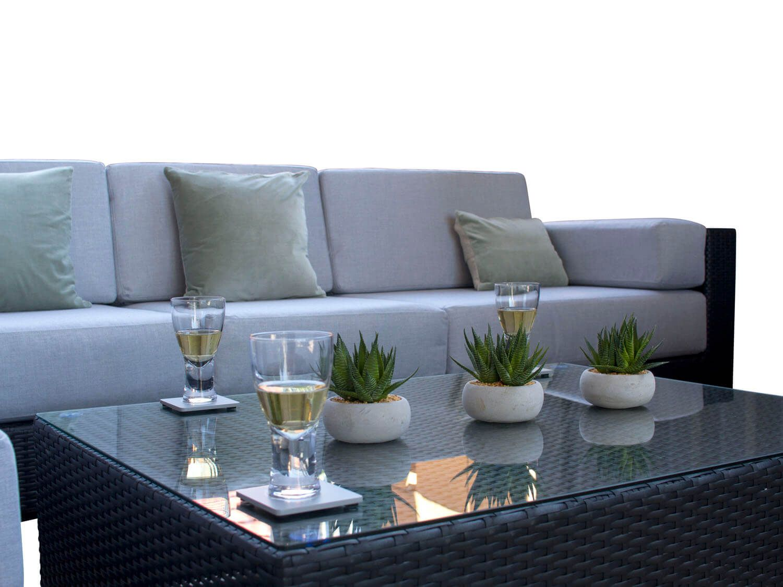 Siena Black Rattan Garden Sofa Set From Alexander Francis Garden