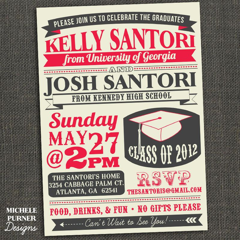 Awesome invitation design. High School or College Graduation Party ...