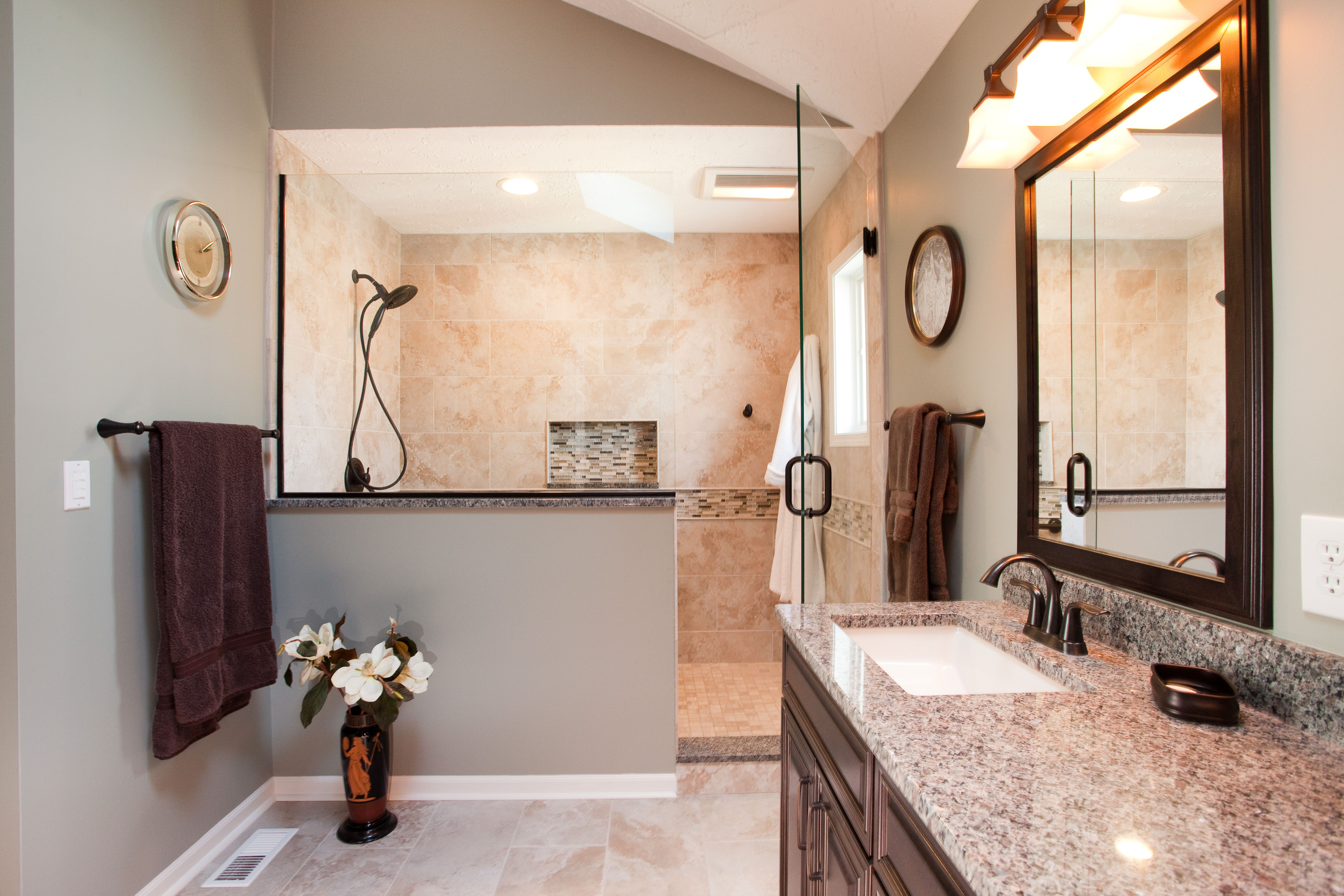 Oil Rubbed Bronze Bathroom Fixtures bathrooms with bronze fixtures earth toned vanity with oil rubbed