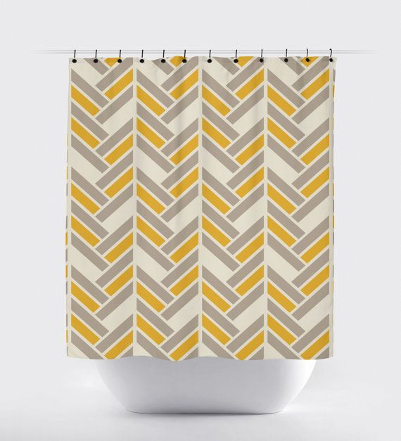 modern fabric shower curtain. Mustard And Gray Shower Curtain, Modern Fabric Curtain T