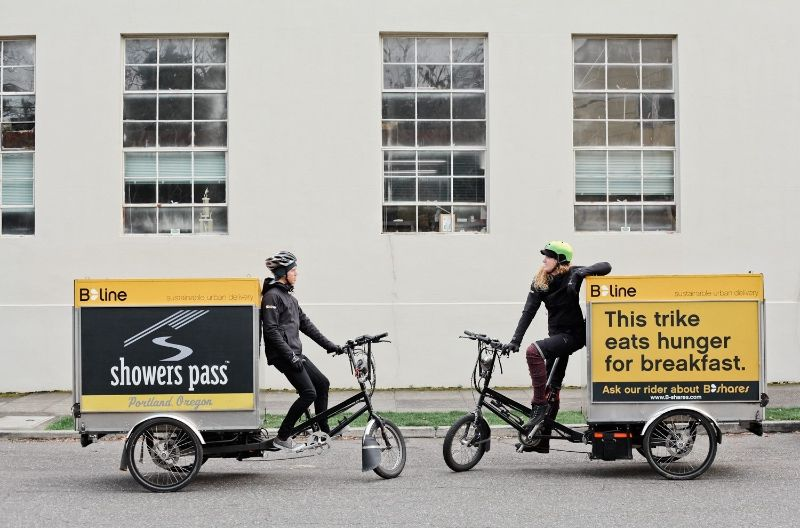 Truck Replaced B Line Delivery By Electric Trike In Portland