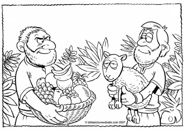 Actividades Para Colorear De Cain Y Abel