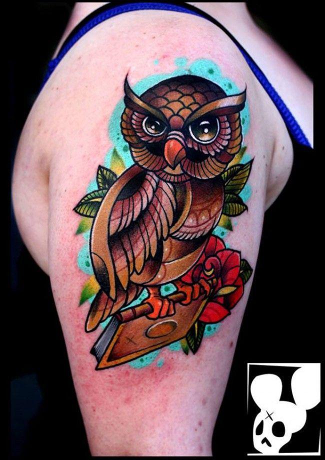 65 Best Tattoo Designs For Women In 2015 Best Tattoo Designs Full Sleeve Tattoo Design Colorful Owl Tattoo