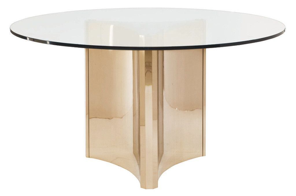 Samson Round Patinated Brass Dining Table Metal Dining Table