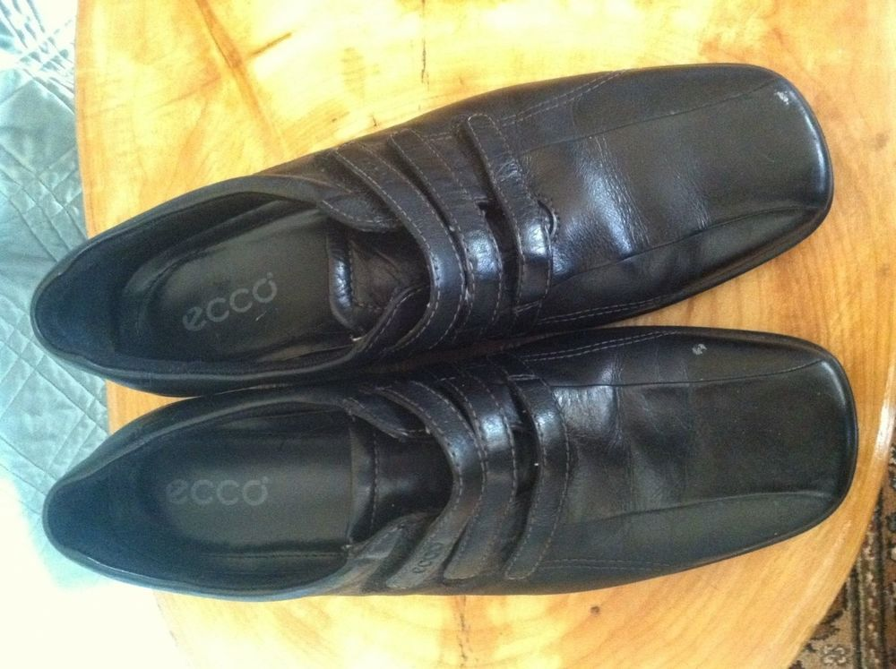 Ecco women's Slip-on black velcro shoes! Size 41/10.5! Black! Light Shock point! #ECCO #LoafersMoccasins