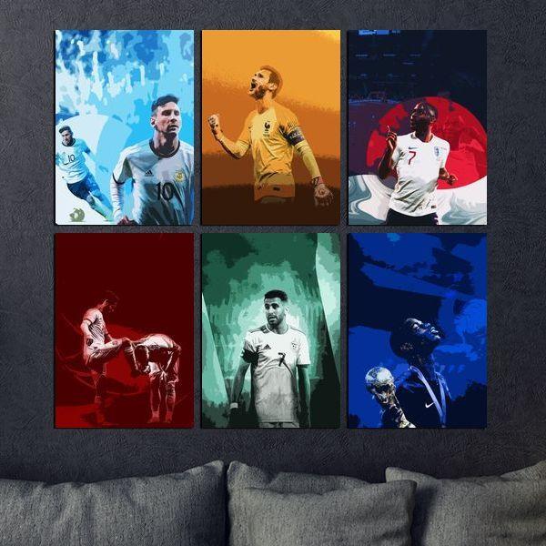 painting football club england france spain
