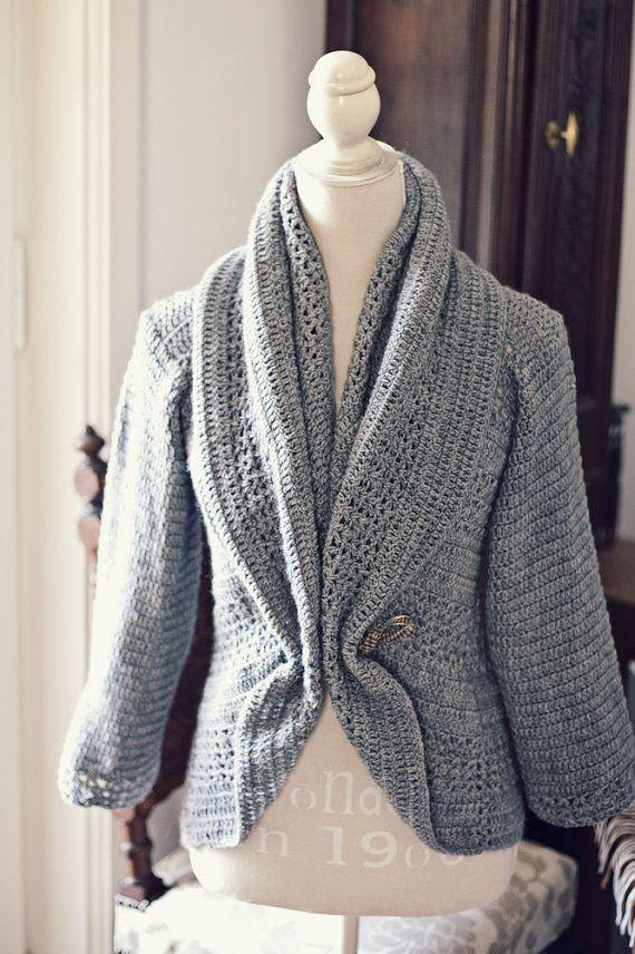 Crochet PATTERN Ladies\' Shrug Cardigan   HOBBY - Häkeln   Pinterest ...